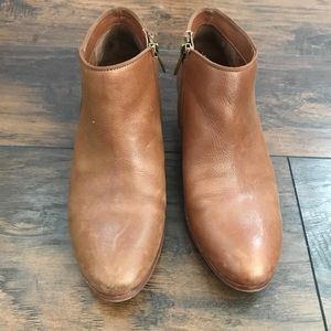 Sam Edelman brown leather booties